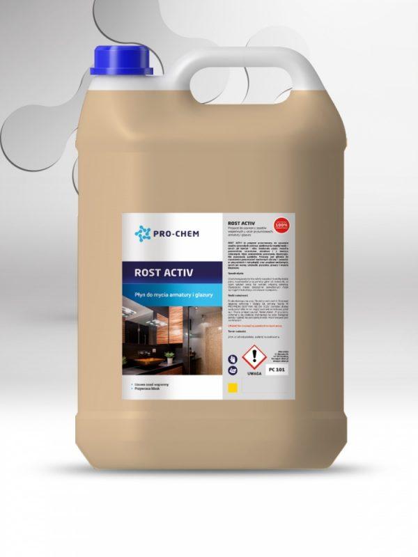 Засіб для видалення вапняних відкладень з душових кабін, металевих поверхней та плиток rost activ - pro-chem - побутова, промислова та авто хімія - 2