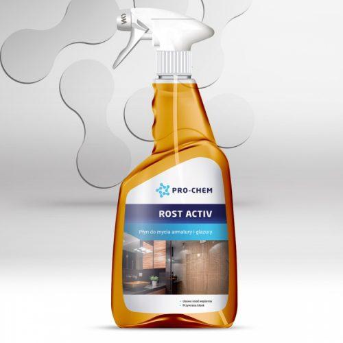 Засіб для видалення вапняних відкладень з душових кабін, металевих поверхней та плиток ROST ACTIV